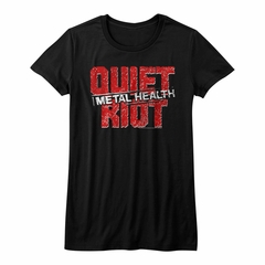 Quiet Riot Shirt Juniors Metal Health Logo Black T-Shirt