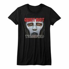 Quiet Riot Shirt Juniors Terrified Album Black T-Shirt