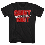 Quiet Riot Shirt Metal Health Logo Black T-Shirt