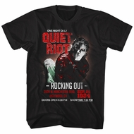Quiet Riot Shirt Rocking Out Concert Black T-Shirt