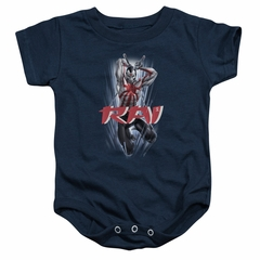 Rai Valiant Comics Baby Romper Leap And Slice Navy Infant Babies Creeper