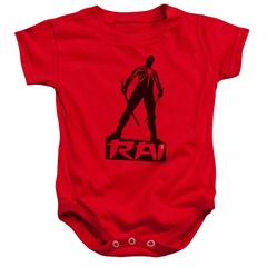 Rai Valiant Comics Baby Romper Silhouette Red Infant Babies Creeper