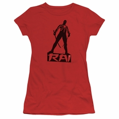 Rai Valiant Comics Juniors Shirt Silhouette Red Tee T-Shirt