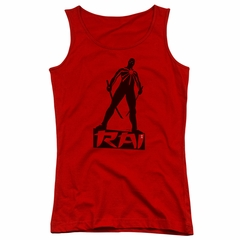 Rai Valiant Comics Juniors Tank Top Silhouette Red Tee Tanktop