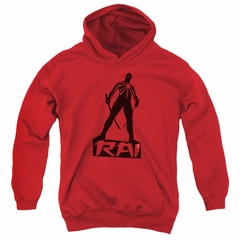 Rai Valiant Comics Kids Hoodie Silhouette Red Youth Hoody
