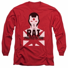 Rai Valiant Comics Long Sleeve Shirt Protector Red Tee T-Shirt