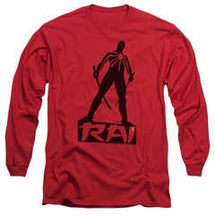 Rai Valiant Comics Long Sleeve Shirt Silhouette Red Tee T-Shirt