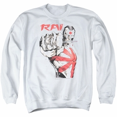 Rai Valiant Comics Sweatshirt Sword Drawn Adult White Sweat Shirt