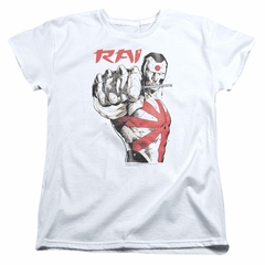 Rai Valiant Comics Womens Shirt Sword Drawn White T-Shirt