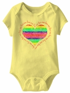 Rainbow One Love Funny Baby Romper Yellow Infant Babies Creeper
