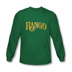 Rango Shirt Logo Long Sleeve Kelly Green Tee T-Shirt