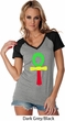 Rasta Ankh Ladies Contrast V-Neck Shirt