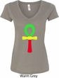 Rasta Ankh Ladies V-Neck Shirt