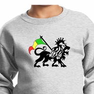 Rasta Lion Kids Sweatshirt