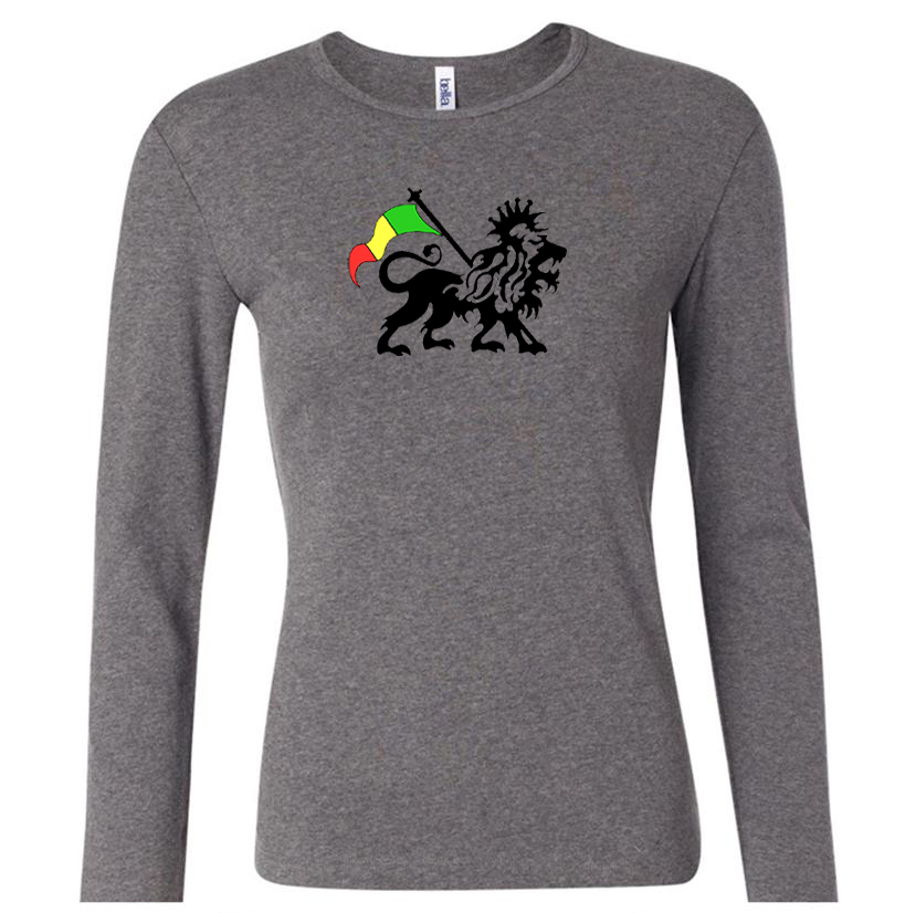 rasta lion ladies shirt long sleeve shirt rasta lion shirts