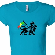 Rasta Lion Ladies Shirts