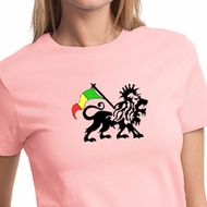 Rasta Lion Ladies T-shirt