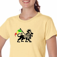 Rasta Lion Ladies T-shirt Organic Tee