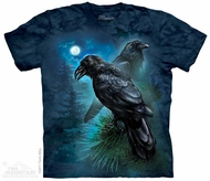 Ravens in the Night T-shirt Tie Dye Adult Tee
