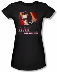 Ray Charles Juniors Shirt Sing It Black Tee T-Shirt