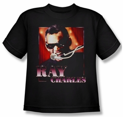 Ray Charles Kids Shirt Sing It Black Youth Tee T-Shirt