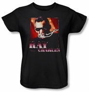 Ray Charles Ladies Shirt Sing It Black Tee T-Shirt