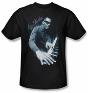 Ray Charles Shirt Blue Piano Adult Black Tee T-Shirt
