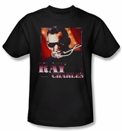 Ray Charles Shirt Sing It Adult Black Tee T-Shirt
