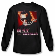 Ray Charles Shirt Sing It Long Sleeve Black Tee T-Shirt