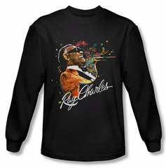 Ray Charles Shirt Soul Long Sleeve Black Tee T-Shirt