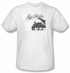 Ray Charles Shirt Sunny Ray Adult White Tee T-Shirt