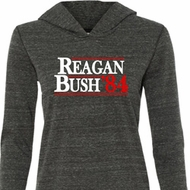 Reagan Bush 1984 Ladies Tri Blend Hoodie Shirt