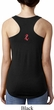 Red Anchor Patch Back Print Ladies Ideal Tank Top