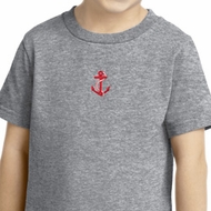Red Anchor Patch Middle Print Kids Shirts
