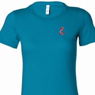 Red Anchor Patch Pocket Print Ladies Shirts