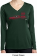 Red Dodge Ram Silhouette Ladies Dry Wicking Long Sleeve