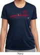 Red Dodge Ram Silhouette Ladies Dry Wicking T-shirt