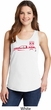 Red Dodge Ram Silhouette Ladies Tank Top