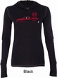 Red Dodge Ram Silhouette Ladies Tri Blend Hoodie