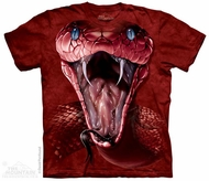 Red Mamba Snake Shirt Tie Dye Adult T-Shirt Tee