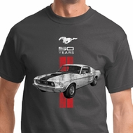 Red Stripe Mustang 50 Years Mens Shirts