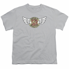 Reo Speedwagon Kids Shirt Winged Logo Silver T-Shirt