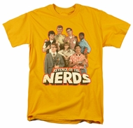 Revenge Of The Nerds Shirt Group Of Nerds Adult Gold Tee T-Shirt