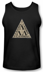 Revenge Of The Nerds Tank Top Tri Lambda Logo Black Tanktop