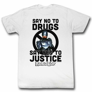 Robocop Shirt Yes To Justice White T-Shirt