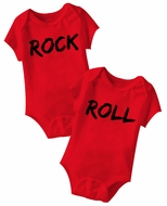 Rock And Roll Funny Baby Romper Red Infant Babies Creeper