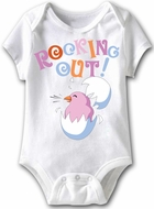 Rocking Out Funny Baby Romper Yellow Infant Babies Creeper