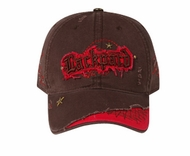 Rockstar Style 3D Patch Hat - Lackpard Distressed Cap - Dark Brown