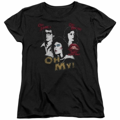 Rocky Horror Picture Show  Womens Shirt Oh My Black T-Shirt
