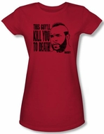 Rocky Juniors T-shirt Kill You To Death Clubber Lang Red Tee Shirt